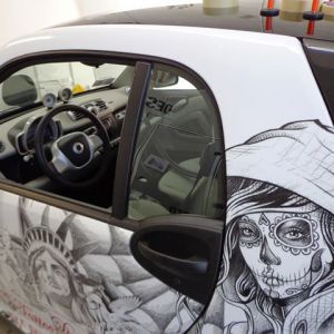Car Wrapping Smart Ice Tattoo