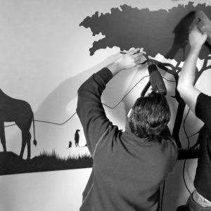 Stampa digitale lombardia Studio grafico pubblicitario Decorazione - Decoratori all'opera