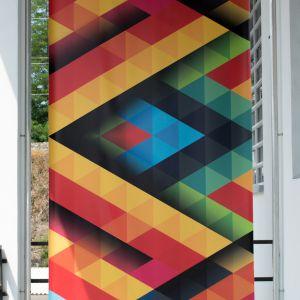 Stampa digitale lombardia Studio grafico pubblicitario Decorazione - Progettazione e stampa banner in PVC - con occhielli e supporto