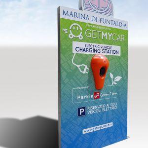 Insegne, Studio grafico pubblicitario lombardia, Decorazione automezzi - Struttura pubblicitaria - charging point